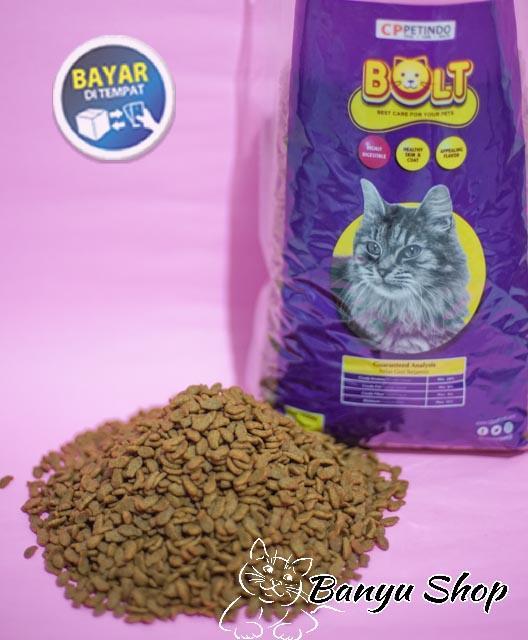 Makanan Kucing Bolt Cat Food Bentuk Ikan Repack 500gr Lazada Indonesia