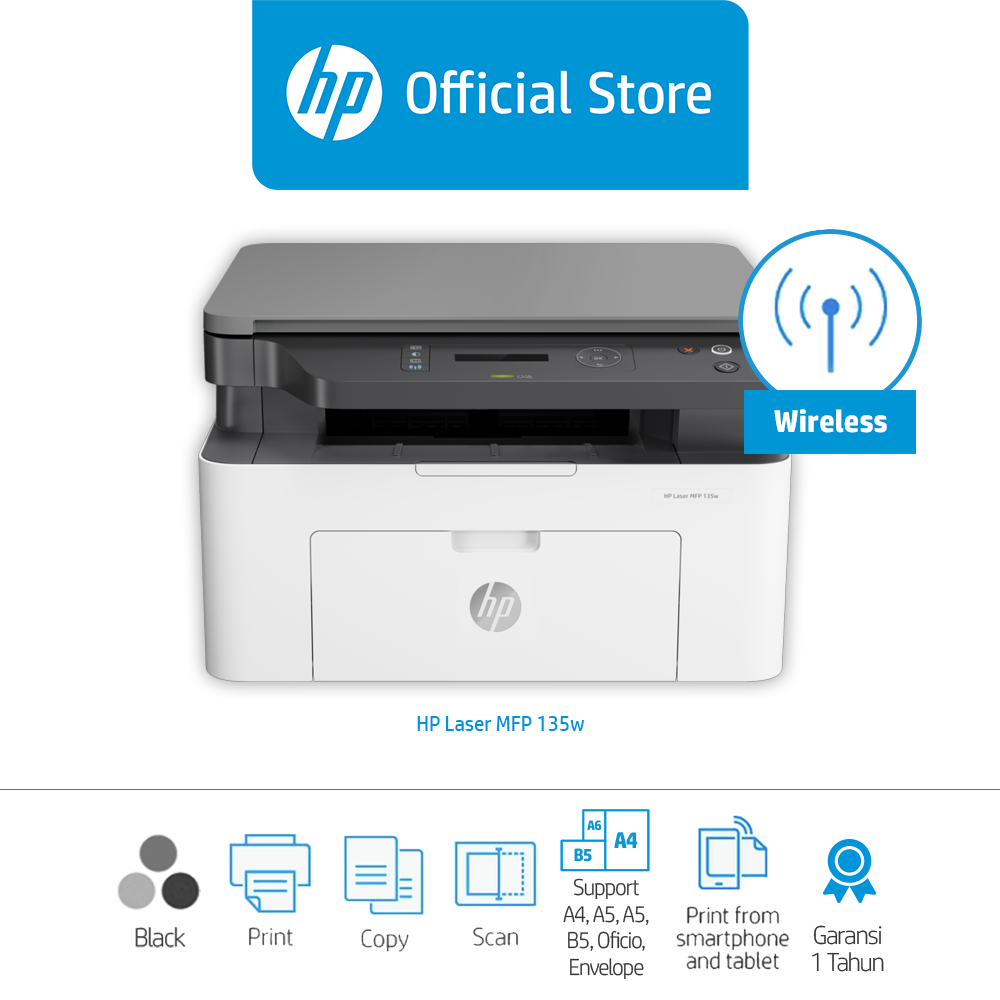 HP Color Laser MFP 178nw Printer (4ZB96A) / Color / Print Scan Copy / Wifi | Lazada Indonesia