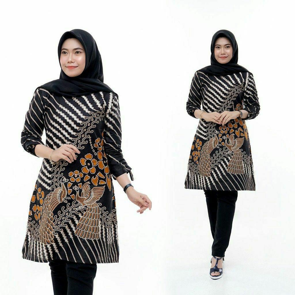 Tunik Batik Solo Modern Tunik Grosir Baju Hijab Batik Pekalongan Klasik