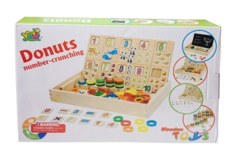 123 Wooden Puzzle - Donuts Number Crunching - Puzzle
