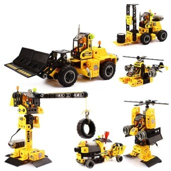 207pcs Toys Electric Building Blocks Engineering Vehicles Aircraft Models Building Sets Toy Gift 9668 (Intl)