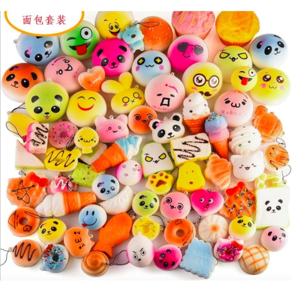 Daftar Harga 20pcs Random Squishy Toys Food Play Slow Rising Aimons Fidget Spinner Spiner Hand Color Squishies Fidgetstress Relieve Intl