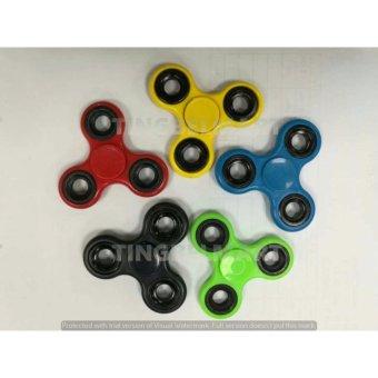 Harga Adamsbell Fidget Spinner Hand Toys Mainan Tri Spinner EDC Ceramic Ball Focus Games Hijau Terbaru klik gambar.