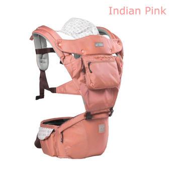 AIEBAO A6627 Multifunctional Waist Belt Infant Hip Seat BabyCarrier(Pink) - intl