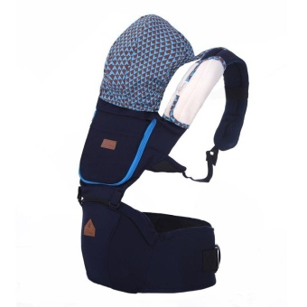 AIEBAO Baby Waist Stool Baby with Multi-functional Cotton Shoulders Seat - Navy Blue - intl