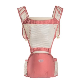 AIEBAO Multi-function Breathable Waist Stool with a Bag of Double Shoulder - Pink - intl