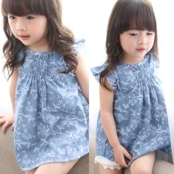 Anak bayi perempuan musim panas bunga putri gaun pesta arak-arakan - Internasional Images Gallery