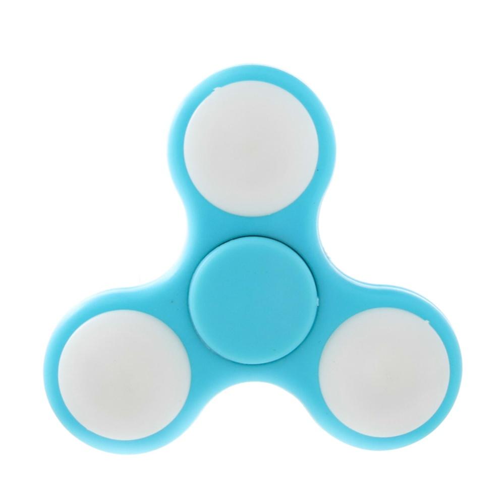ANGEL Fidget Spinner Hand LED Toys Mainan Tri-Spinner EDC Focus Games .