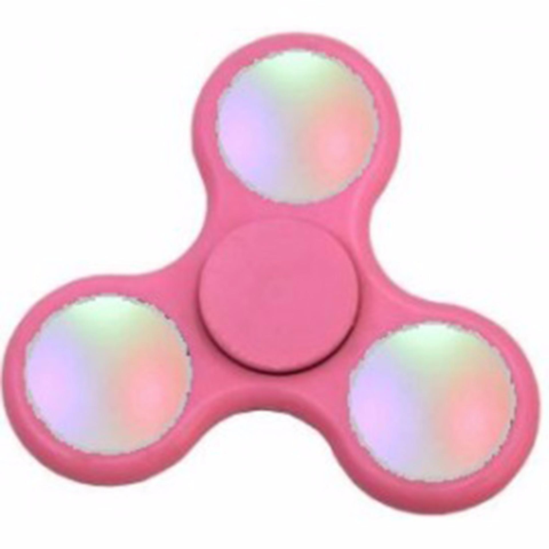 ... ANGEL - LED Fidget Spinner Hand Toys Mainan Tri-Spinner EDC Ceramic Ball Focus Games ...