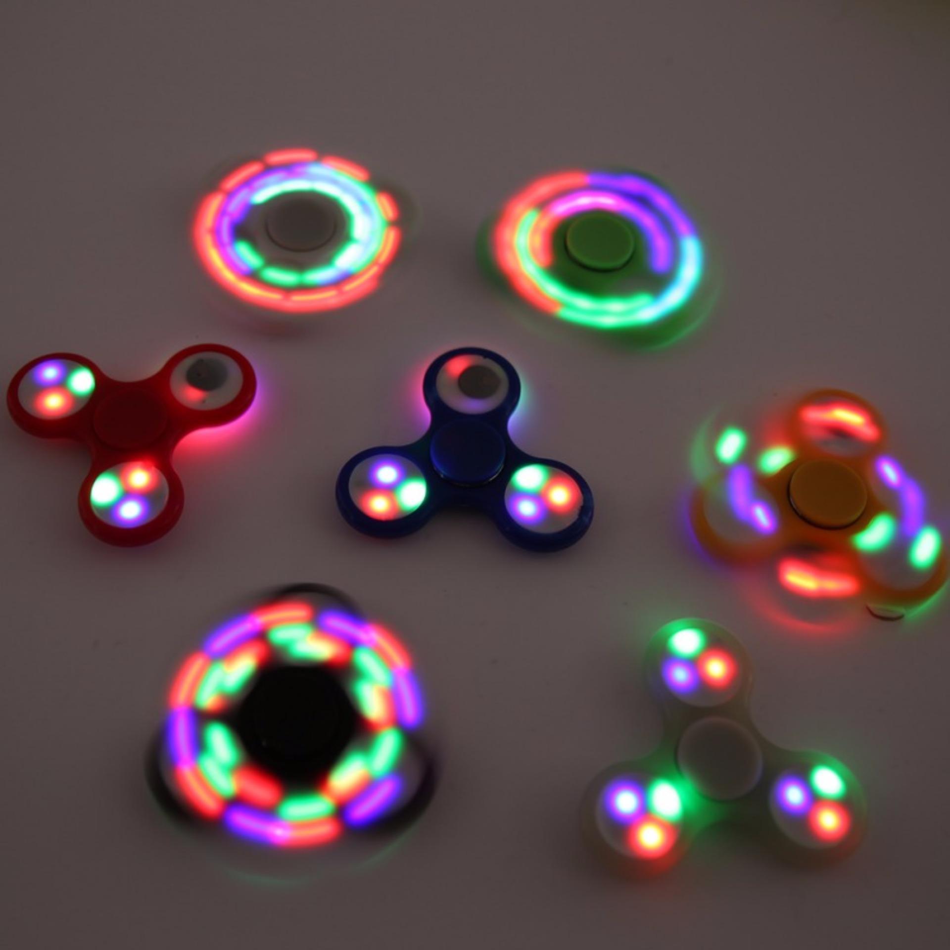 ... ANGEL LED Fidget Spinner Hand Toys Mainan Tri-Spinner EDC Ceramic Ball Focus Games Penghilang ...