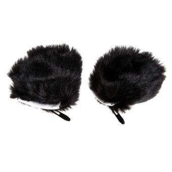 JUAL Anime Hair Clip Cosplay Fancy Dress Party Cat Fox Ears Long Fur Black – Intl – intl MURAH