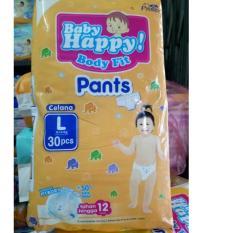 Baby Happy Body Fit Pants Popok Anak Dan Bayi Size L - 30 Pcs