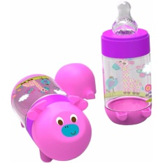 Baby Safe AP001 Feeding Bottle 125ml Purple Botol Minum Anak Bayi Ungu Jerapah Giraffe BabySafe