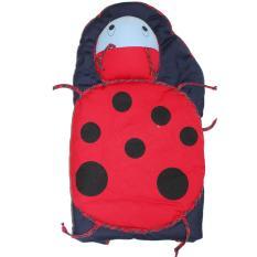 Baby Scots Lady Bug Hooded Baby Blanket/ Selimut Topi Bayi - ISBB011