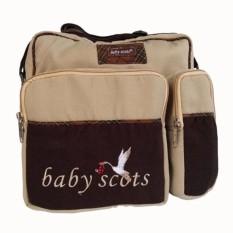 Baby Scots Medium Diaper Bag/ Tas Perlengkapan Bayi Bordir Sedang - ISMB015