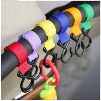 Baby Stroller Double-Hook Pushchair Hanger Hanging Comfort StrollerAccessories - intl