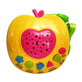 Baby Talk Apple Quran - Mainan Anak Mainan Bentuk Apel Mainan MurahKado Anak Mainan Elektrik Kado Bayi Mainan Belajar Berdoa MainanEdukasi Anak Untuk Belajar Al Quran - Yellow Pink