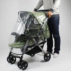 Baby Universal Stroller Rain Cover Perisai Angin Pushchair Cover Kursi Roda