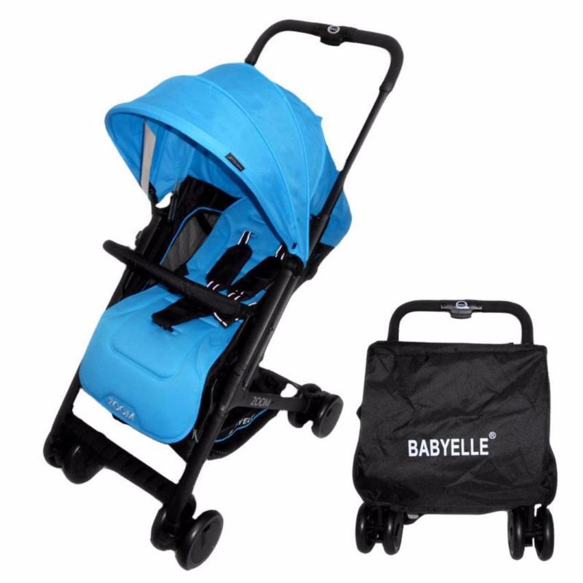 Babyelle Zoom Stroller Biru - Kereta Dorong Bayi