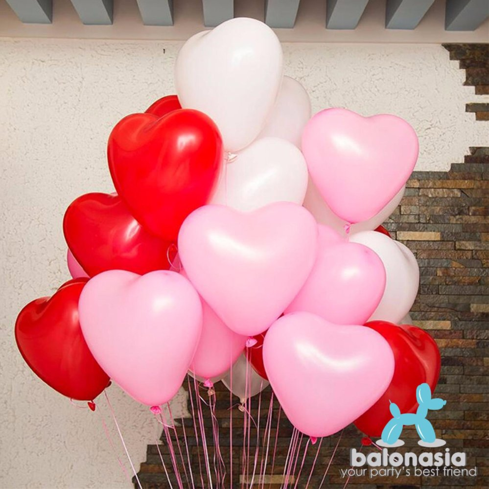 Balonasia Balon Latex I Love You 10 Pcs Spec Dan Daftar Harga Doff Dove  Grosir 12 Inch Polos 30 Motif Helium Quality