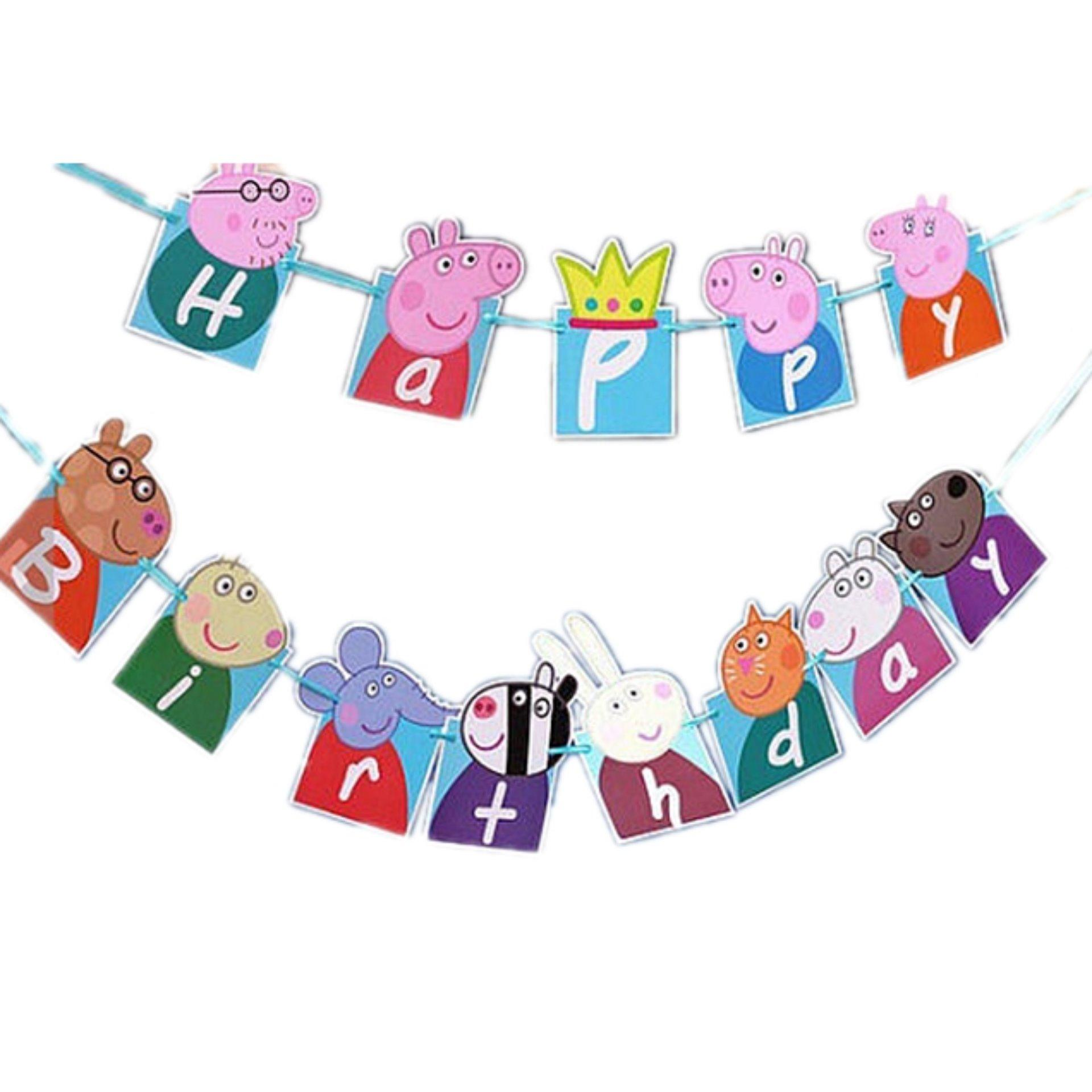Banner / Bunting Flag Happy Birthday Motif Mickey Mouse
