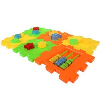 Bayi Anak-Anak Binatang Alfabet Bentuk Kubus Blok Intelektual BlokBangunan Kotak Mainan .