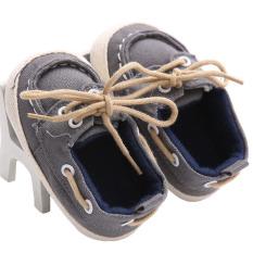Bayi Belajar Langkah Sepatu Anak's Sepatu Produsen 0 dan 1-Tahun Baby A161 Abu-abu