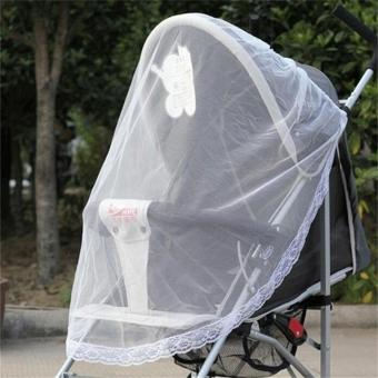 Bayi kereta dorong bayi kereta dorong Buggy jala jaring pelindung nyamuk serangga yang aman - International