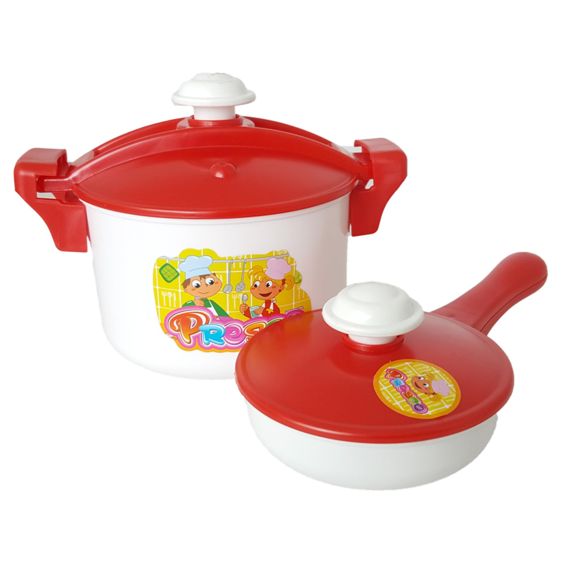 BB Mart Mainan Dapur Idaman Set 2 Pcs Merah - Mainan Masak Masakan .