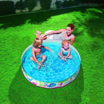 Bestway Fill & Fun Pool (Ikan Paus) 122cm. Kolam Renang Anak Tanpa Tiup Pompa Angin - 3