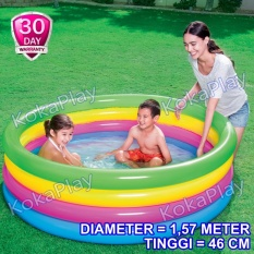 Bestway Intex Rainbow Swimming Pool Pelampung Kolam Renang Anak Pelangi Big 4 Tingkat Diameter 1,57 Meter