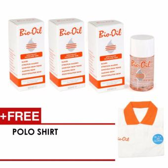 Bio Oil Purchellin Oil 60ml - 3 pcs (PROMO FREE Polo Shirt)