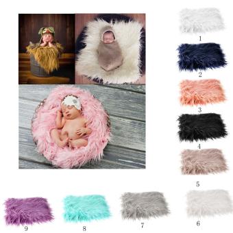 BolehDeals bayi baru lahir fotografi foto karpet selimut bulu latarbelakang abu-abu muda - 3