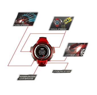 BonBon Mainan Mobil Anak / Voice Command Car Smart Watch - Red - 3