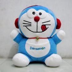 Boneka Doraemon Walkman High Quality - Biru