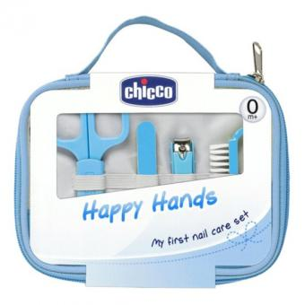 CHICCO Italy Happy Hands Manicure Set Gunting Perawatan Kuku Bayi -Biru