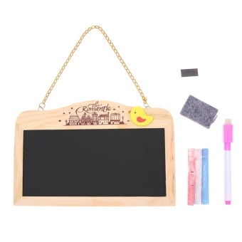 Creative Gift Mini Magnetic Blackboard Both sides Message Board Decor - intl