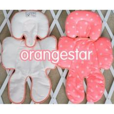 Cuddleme Seat Pad (alas stroller / car seat) - Motif Star Orange