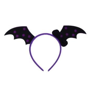 HARGA Cute Halloween Pumpkin Witch Skull Hair Hoop Children Head Decoration(Purple) – intl TERPOPULER