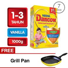 Dancow 1+ Excelnutri - Vanila - 1000 gr - Bundle 7 Gratis Grill Pan