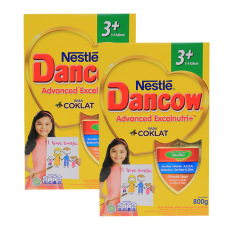 DANCOW ADVANCED EXCELNUTRI 3+ Cokelat Box 800g - Bundle Isi 2 Box