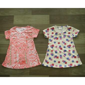 Dress Anak Kaos Katun Balon Spandeks - 3 .