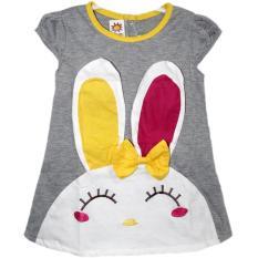Dress Bayi Kelinci 2450 Abu-Abu Size L