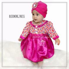 eLBi - Baju Pesta Blooming Dress - Baju Muslim Anak Balita Size 6-12 Bulan