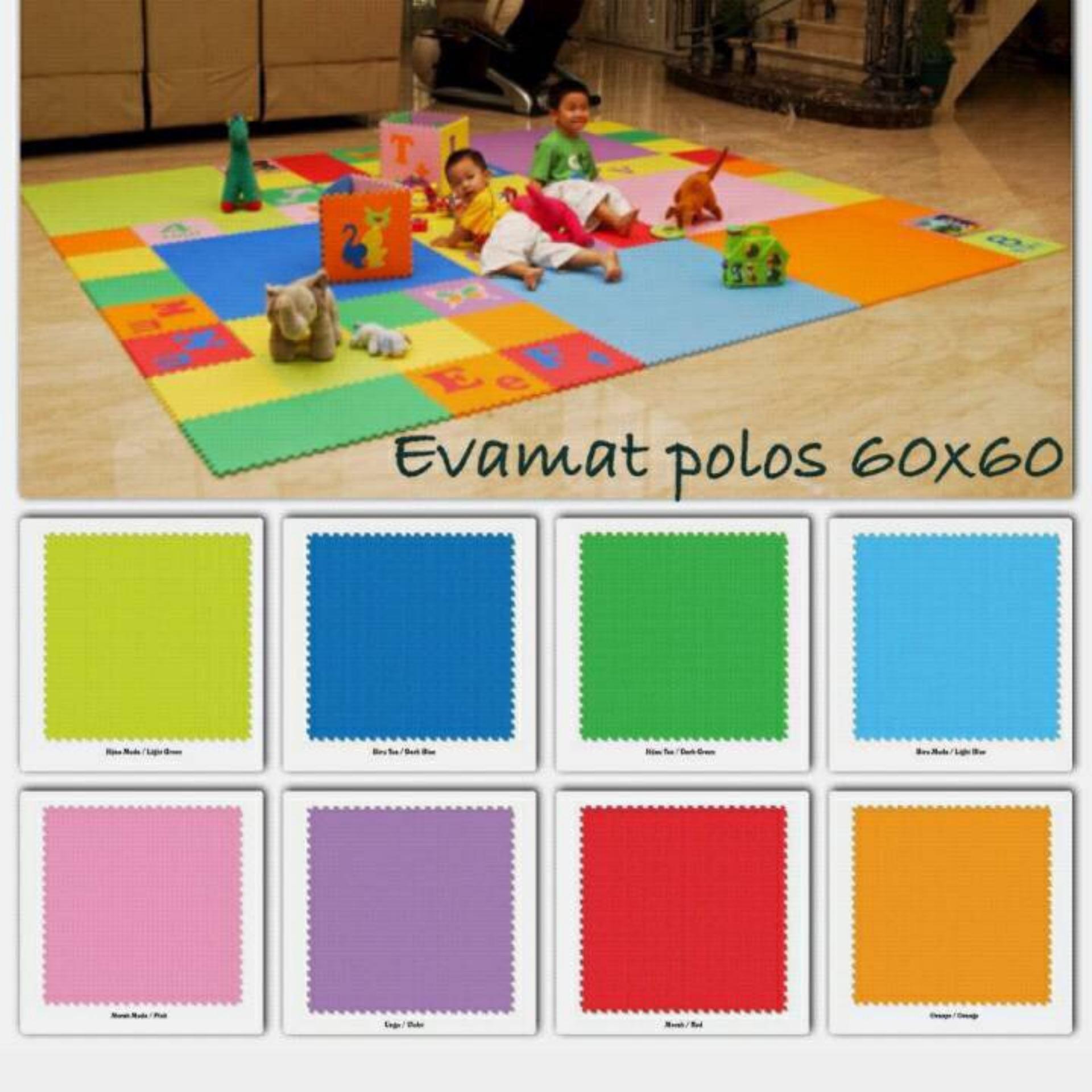 Evamats Polos / Matras /Tikar / Karpet / Puzzle Alas Lantai EvamatUkuran 60 x 60