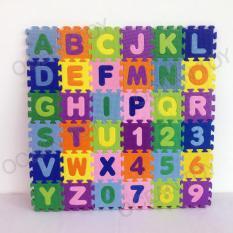 Evamats Puzzle Kids ABC/123 Ukruan 8 x 8 cm Isi 36pcs - EVPKD