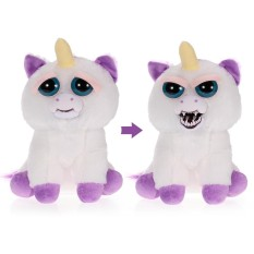 Feisty Pets Glenda Glitterpoop Feisty Films Adorable Plush Stuffed Toy Unicorn Turns Feisty with a Squeeze - intl