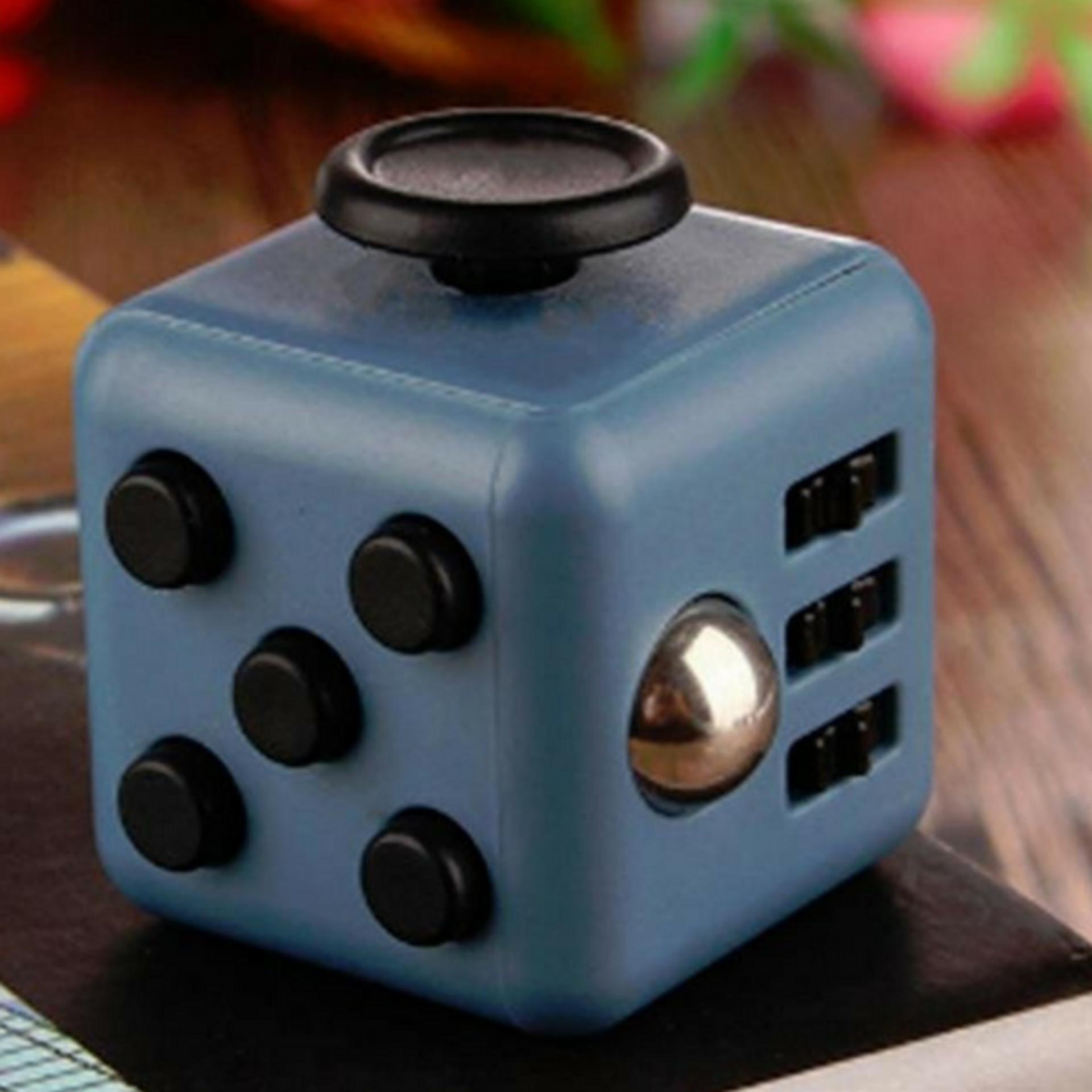 ... Fidget Cube Magic Cube 6 Side Classic - Premium Quality - Dark Grey-Black ...