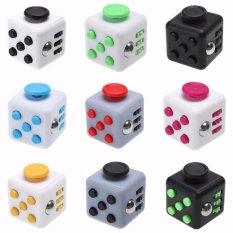 Fidget Cube Spinner Kickstarter Finger Toys Therapy Mainan Vinyl Desk Stress Relief