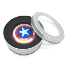 Fidget Spinner Aluminium Premium Captain America Focus Hand Toys Mainan Spinner EDC Aluminium toqbar Brass